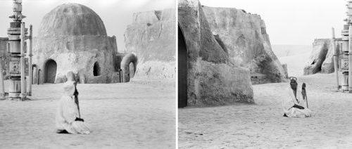 Rä di Martino fotografa il set di Star Wars: Episodio IV – Una nuova speranza