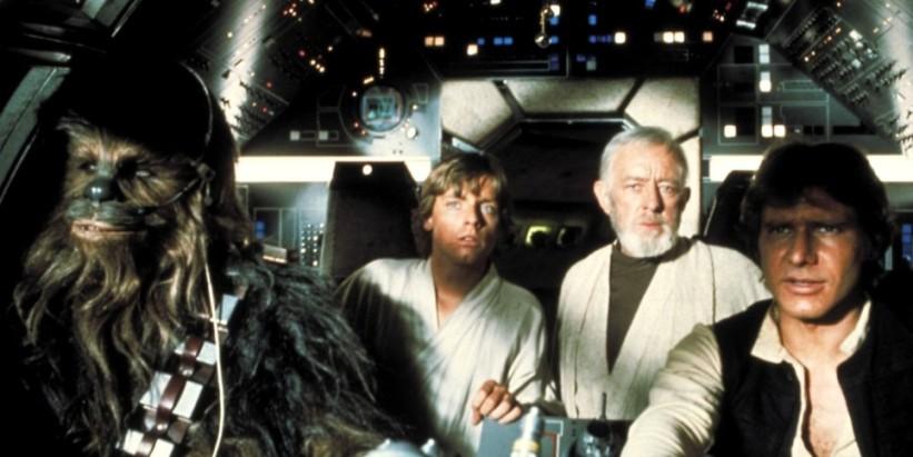 Star Wars Episodio IV - Una nuova speranza streaming di George Lucas, con Mark Hamill, Harrison Ford, Carrie Fisher, Peter Cushing, Alec Guinness 18 citazioni e dialoghi