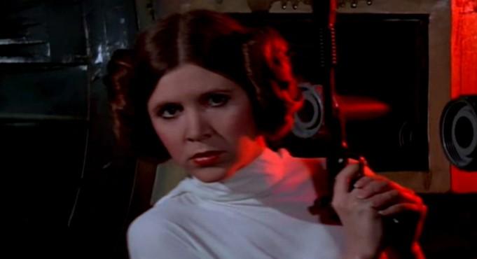 Annegata nella luce della luna, asfissiata dal mio reggiseno Carrie Fisher Star Wars