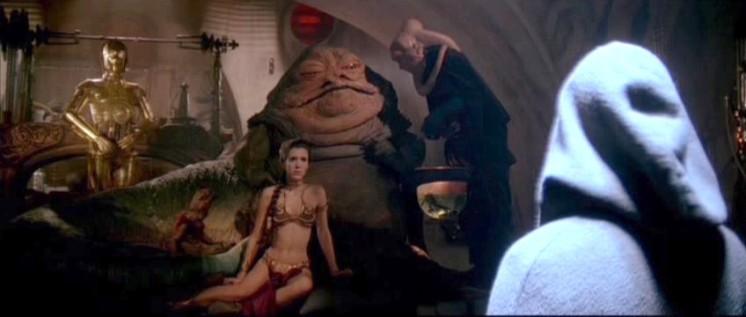 Star Wars: Episodio VI - Il ritorno dello Jedi frasi e citazioni, Carrie Fisher, bikini
