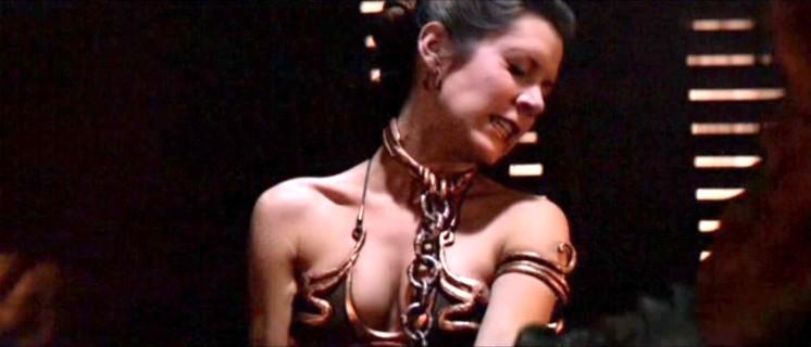 La più bella della galassia di Star Wars, Carrie Fisher sexy bikini