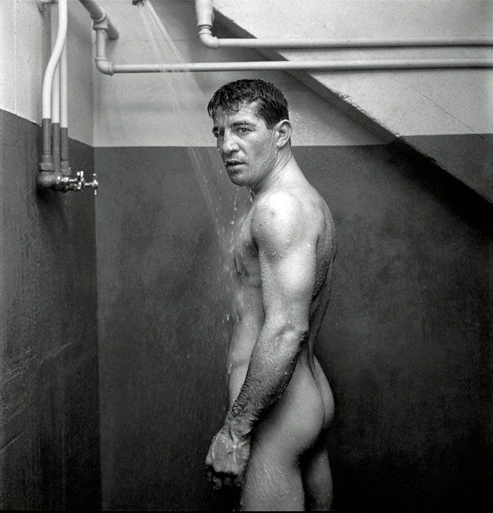 Stanley Kubrick il fotografo Stanley Kubrick, World sport boxing's two mythic heroes Rocky Graziano, dicembre 1949