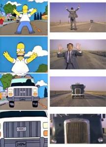 Intrigo internazionale streaming di Hitchcock Homer come Cary Grant in (1959) I Simpson e il cinema (terza parte)