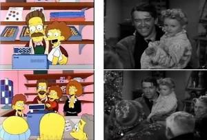 La vita è meravigliosa streaming di Frank Capra. Ned Flanders, nei panni di James Stewart