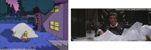 Scarface, 1983 Homer come Al Pacino