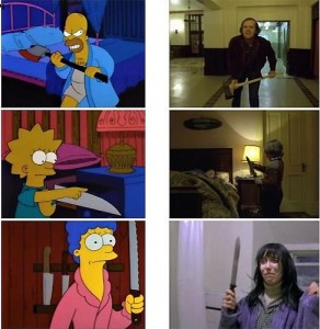 The Shining (1980) in versione Simpson