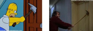 The Shining Homer Simpson come Jack Nicholson