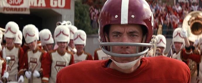 Forrest Gump citazioni e dialoghi, Robert Zemeckis, Tom Hanks, Robin Wright, Gary Sinise, football