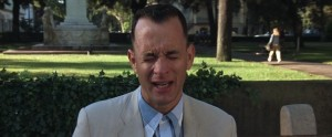 Forrest Gump streaming di Robert Zemeckis con Tom Hanks, Rebecca Williams, George Kelly, Robin Wright e Gary Sinise 9 frasi citazioni e dialoghi