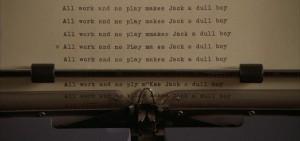 Shining frasi citazioni e dialoghi streaming di Stanley Kubrick con Jack Nicholson, Shelley Duvall, Danny Lloyd, Scatman Crothers, Barry Nelson, Philip Stone, Joe Turkel All work and no play makes Jack a dull boy