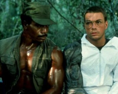 Jean-Claude Van Damme col costume originale di Predator