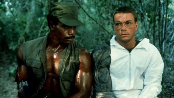 Jean-Claude Van Damme col costume originale di Predator 1