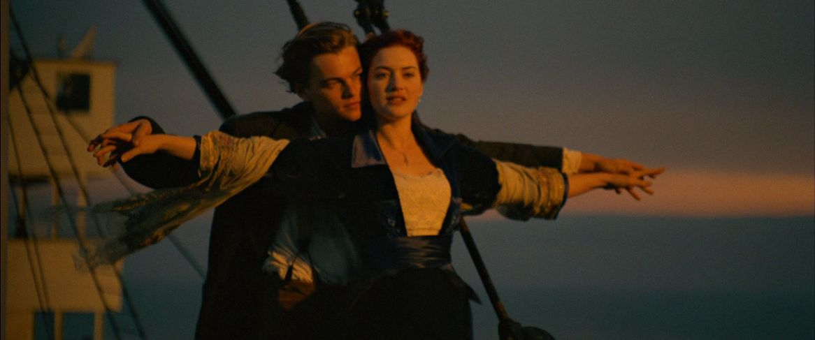 Kate Winslet in Titanic con Leonardo DiCaprio