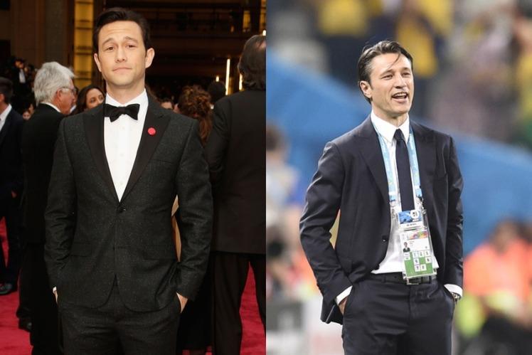 Le star del calcio e il loro sosia hollywoodiani Joseph Gordon-Levitt e Niko Kovac