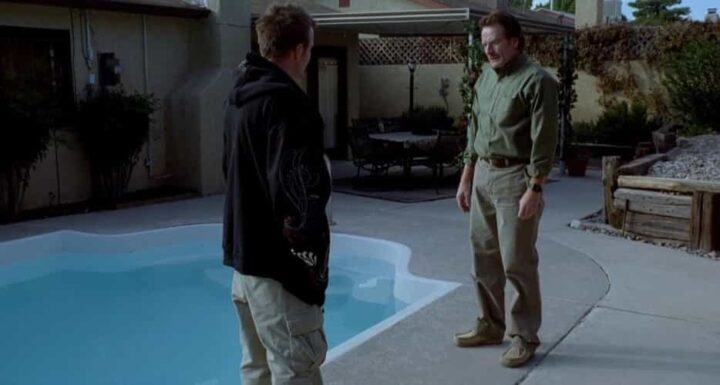 Breaking Bad, Vince Gilligan, Bryan Cranston, Walter White, Aaron Paul, Jesse Pinkman, piscina