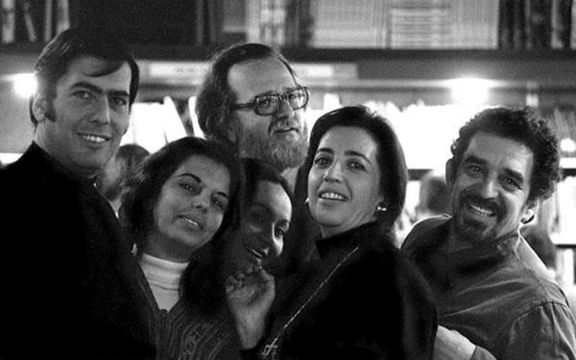 Gabriel García Márquez e il cinema Barcellona anni Sessanta Mario Vargas Llosa, Patricia Llosa, José Donoso, María Ester Serrano, Mercedes Barcha Pardo, Gabriel García Márquez