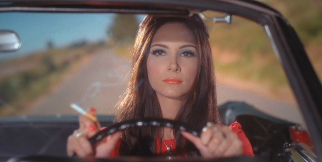 The Love Witch (2016) Anna Biller Elle Evans, Samantha Robinson, Lily Holleman elaine driving