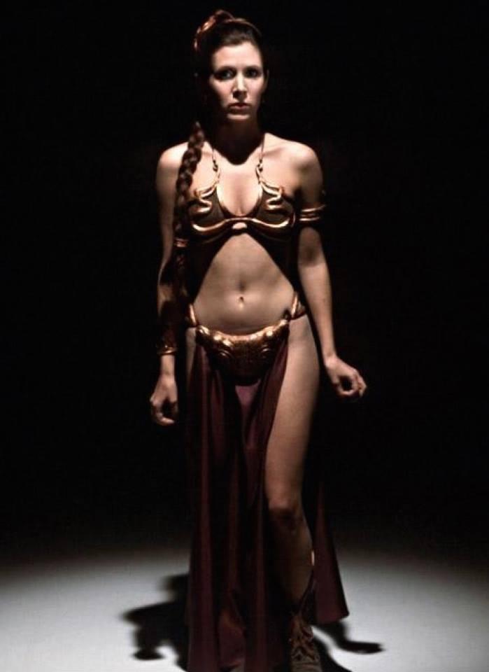 Carrie Fisher la principessa Leia sexy bikini 11