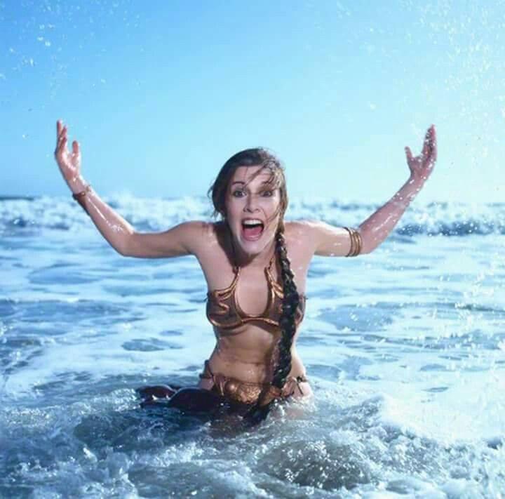 Carrie Fisher la principessa Leia sexy bikini 2