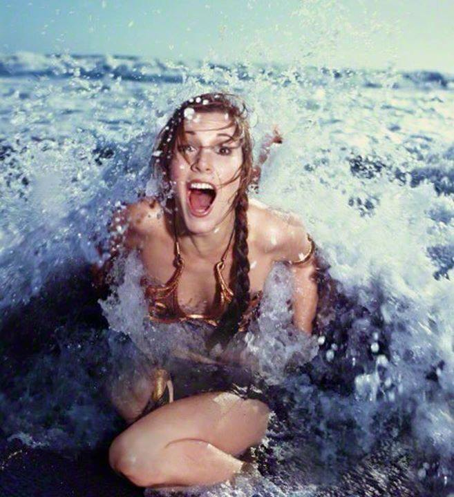 Carrie Fisher la principessa Leia sexy bikini 3