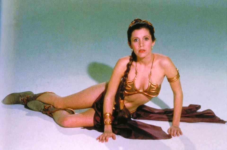 Carrie Fisher la principessa Leia sexy bikini 5