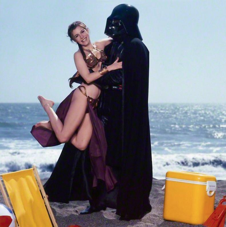 Carrie Fisher la principessa Leia sexy bikini 7