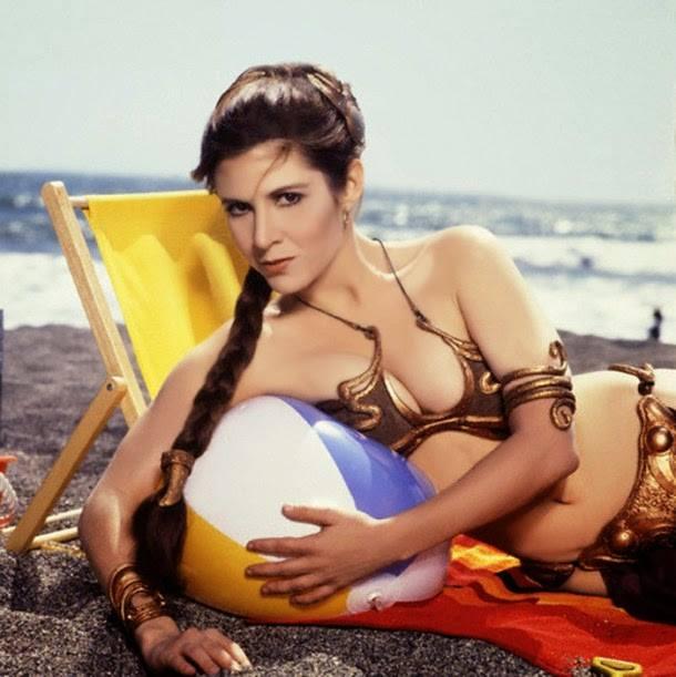Carrie Fisher la principessa Leia sexy bikini 9