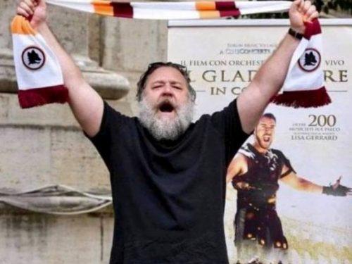 Russell Crowe è tifoso della Roma