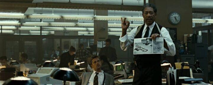 Morgan Freeman cerca di salvare le api dall'estinzione - Seven, 1995, David Fincher, Brad Pitt, Morgan Freeman, prove