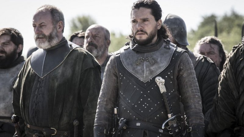 Game of Thrones 8×05 Jon snow ser davos