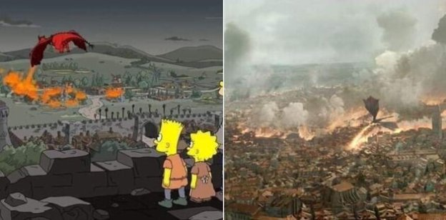 Game of Thrones 8×05 predetto dai Simpson? I Simpson 29X01 I Servson (The Serfsons) Game of Thrones 3