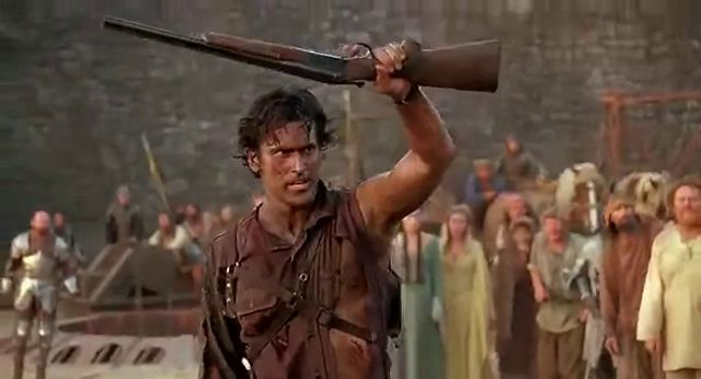 Allora idioti primitivi, sturatevi le orecchie! Ash Williams Bruce Campbell