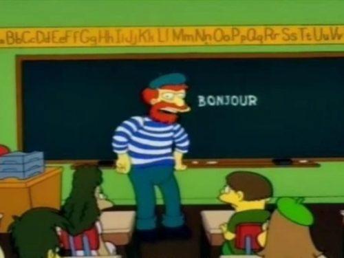 L'episodio musica maestro dei Simpson nella versione francese è diverso