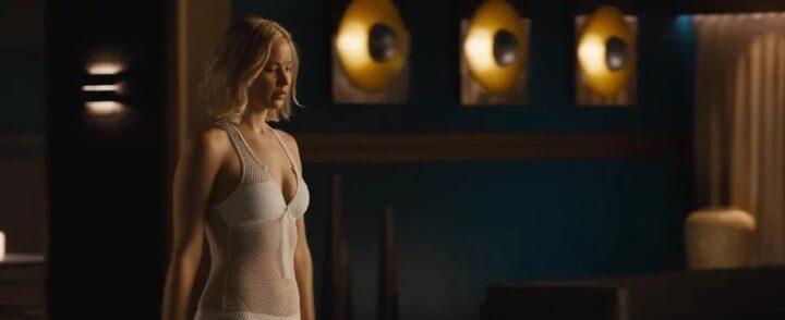 Passengers, 2016, Morten Tyldum, Jennifer Lawrence, sexy costume bianco