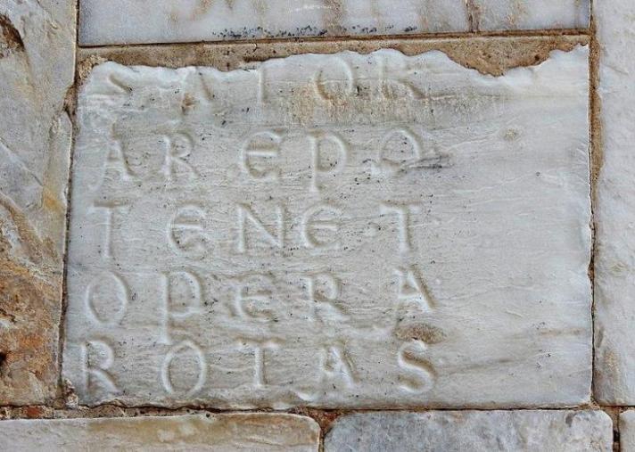 Il quadrato del Sator e Tenet