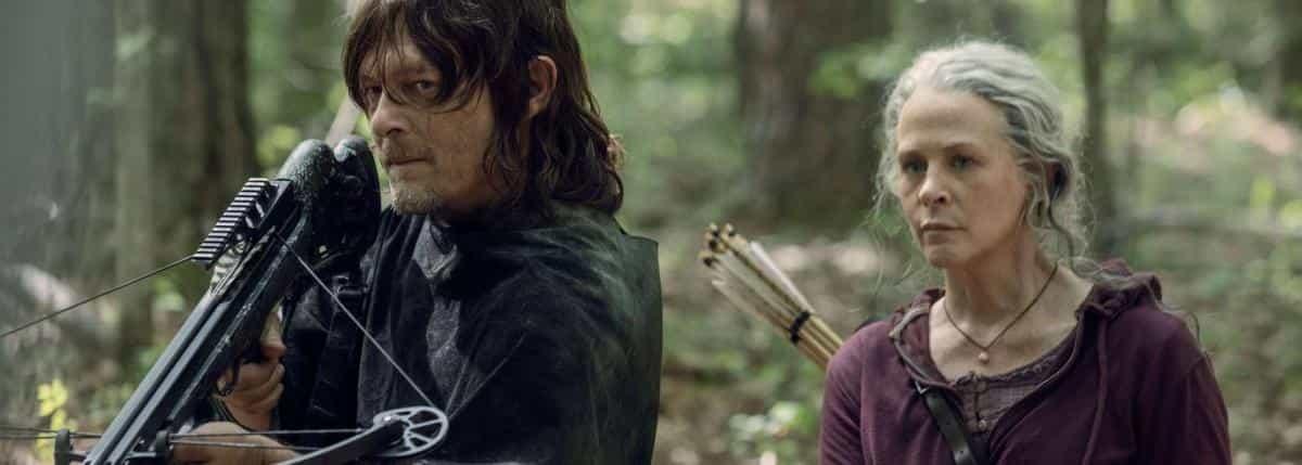 Rick e Michonne in The Walking Dead, Daryl Dixon, Norman Reedus, Carol Peletier, Melissa McBride, balestra