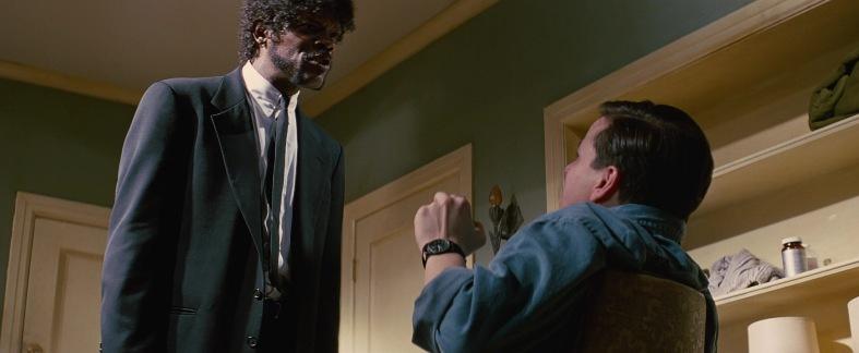Pulp Fiction frasi, citazioni e dialoghi di Quentin Tarantino, Samuel L. Jackson, Jules Winnfield, minaccia