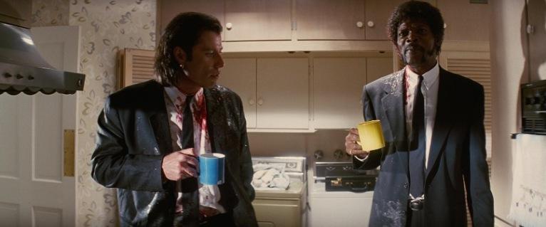 Pulp Fiction citazioni e dialoghi di Quentin Tarantino, John Travolta, Vincent Vega e Samuel L. Jackson, Jules Winnfield, maglietta, ottimo caffè