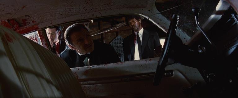 Pulp Fiction frasi, citazioni e dialoghi di Quentin Tarantino, Samuel L. Jackson, Jules Winnfield, Samuel L. Jackson, Jules Winnfield, Harvey Keitel, Winston Wolf, macchina