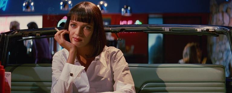 Pulp Fiction citazioni e dialoghi di Quentin Tarantino, Uma Thurman, Mia Wallace, locale