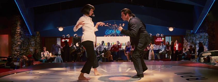 Curiosità ed errori presenti in Pulp fiction di Quentin Tarantino con John Travolta, Samuel L. Jackson, Uma Thurman, Harvey Keitel, scena ballo