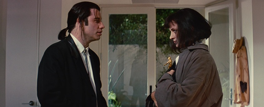 Pulp Fiction citazioni e dialoghi di Quentin Tarantino, Uma Thurman, Mia Wallace, John Travolta, Vincent Vega, casa