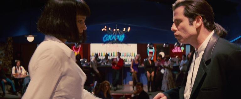 Pulp Fiction citazioni e dialoghi di Quentin Tarantino, Uma Thurman, Mia Wallace, John Travolta, Vincent Vega, danza