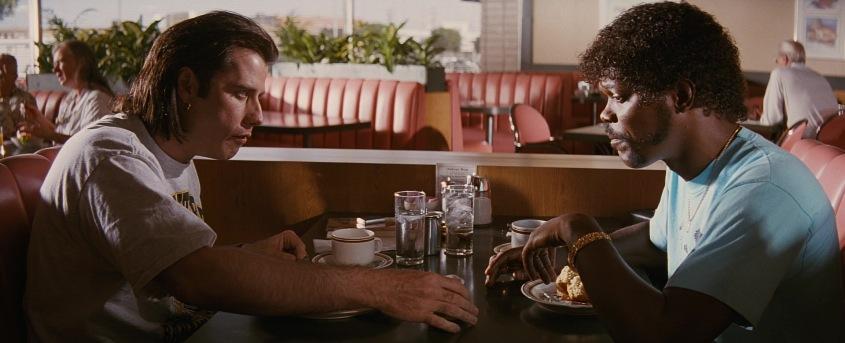 Pulp Fiction citazioni e dialoghi della pellicola di Quentin Tarantino, John Travolta, Vincent Vega e Samuel L. Jackson, Jules Winnfield, cibo