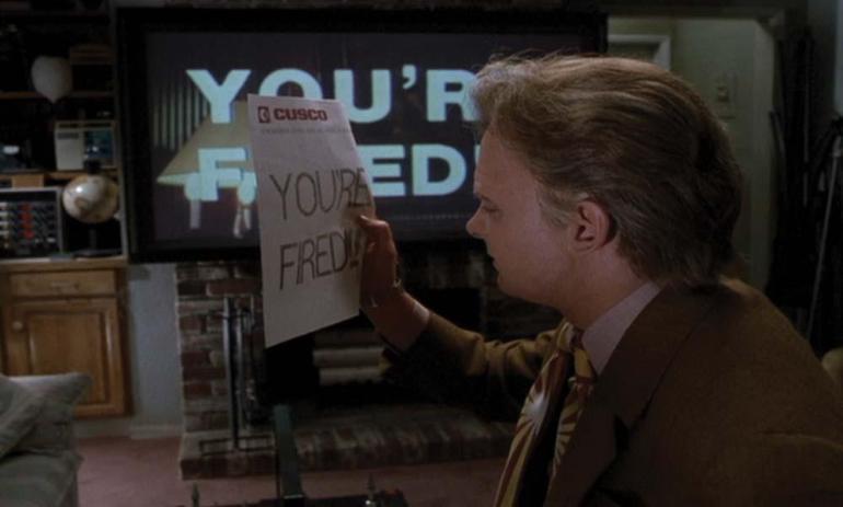 Ritorno al futuro - Parte II, frasi, citazioni e dialoghi della pellicola di Robert Zemeckis you're fired