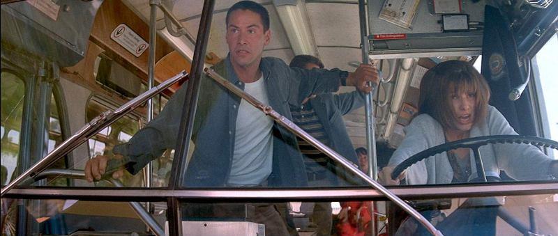 Speed frasi, citazioni e dialoghi di Jan de Bont con Keanu Reeves, Dennis Hopper e Sandra Bullock guida il bus