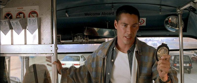 Speed frasi, citazioni e dialoghi di Jan de Bont con Keanu Reeves, Dennis Hopper e Sandra Bullock, distintivo polizia