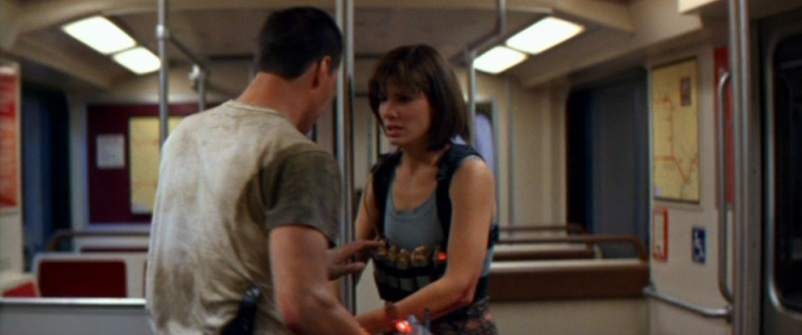 Speed frasi, citazioni e dialoghi di Jan de Bont con Keanu Reeves, Dennis Hopper e Sandra Bullock sulla metropolitana, esplosivo