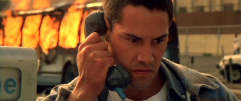 Speed frasi, citazioni e dialoghi di Jan de Bont con Keanu Reeves, Dennis Hopper e Sandra Bullock, telefono, esplosione