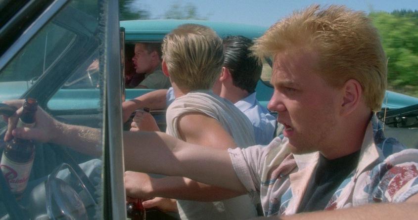 Stand by Me - Ricordo di un'estate citazioni e dialoghi, di Rob Reiner, con Kiefer Sutherland, macchina decapottabile